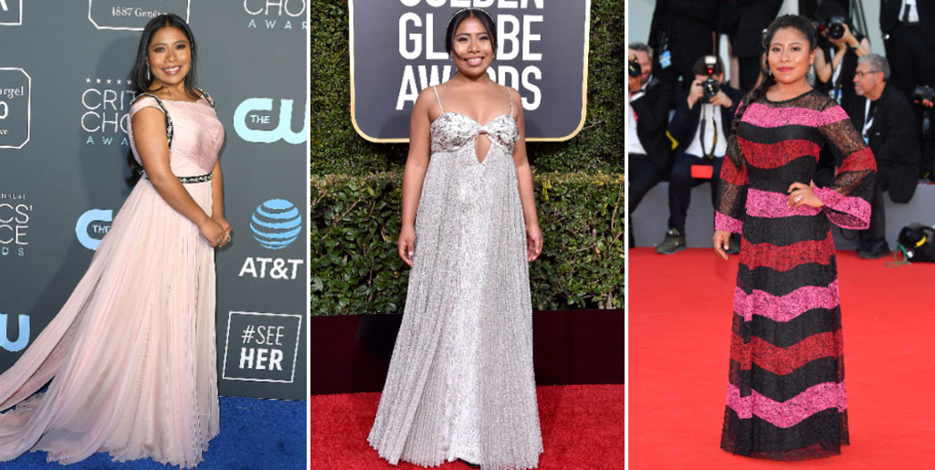 Yalitza Aparicio is taking on the red carpet one outfit at a time! A look at her style evolution