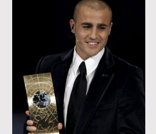 Cannavaro, ganador del FIFA World Player 2006