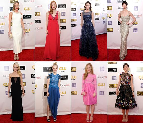 Critics' Choice Movie Awards 2013: Los looks sobre la alfombra roja