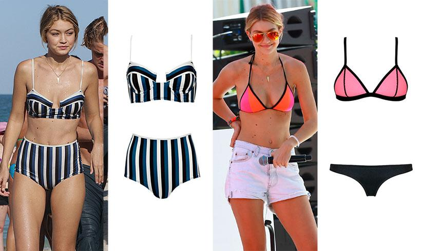 Copia los 'looks' de playa de Gigi Hadid