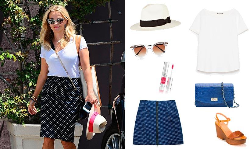 El 'look' 'preppy' de Reese Witherspoon