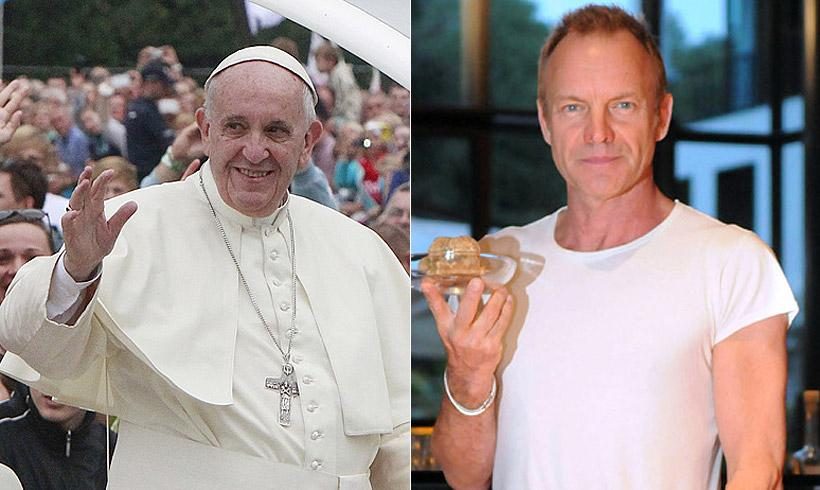 El Papa Francisco recibe en Audiencia al cantante Sting