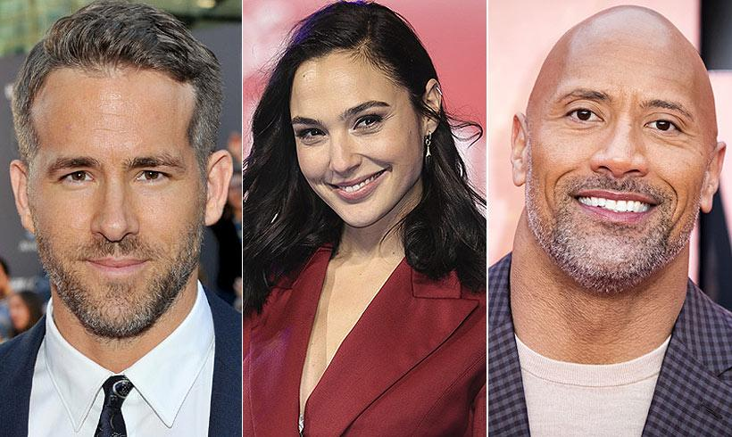 Ryan Reynolds, Gal Gadot y Dwayne Johnson protagonizarán juntos 'Red Notice'